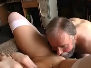 Youthful playgirl gets seduces by a much older gentleman