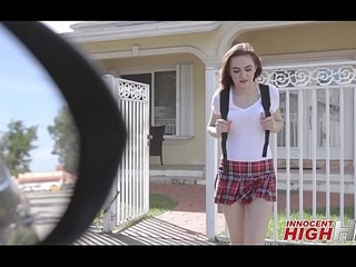 Cute Virgin High School Girl Kelsey Kage Ditching School With Their way Beat out Gets Screwed