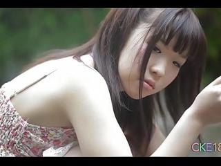 Shy Japanese teen angel first time dispirited outdoor josh