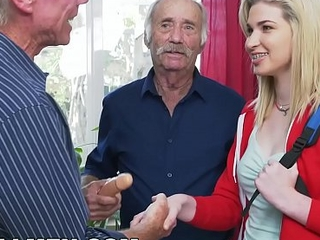 BLUE PILL MEN - Young Stacie Gets Schooled Wide of Three Horny Grey Men