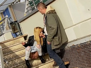 Public blowjob while peeing and open-air fucking with dulce Chiki