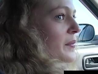 Crispy Haired Russian Blonde Deep-throats &amp_ Fucks Her Ride!