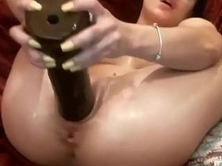 Slutty step sister uses big black cock