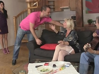 She involved into 3some copulation with his old parents