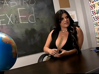 Ms. Angelina Castro Has 3Some In Class With Tara Lynn Holmes