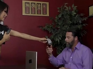 The Boss'_s Daughter Turns Him Into The brush Slave - Sami Parker - Femdom