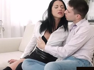 Black Haired Lothario Jessica Lincoln Takes a Fucking from Her Boyfriend