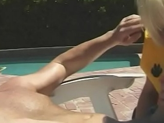Cheerleader beauty Nadia Foster entices older stud round fuck her unconnected with the pool