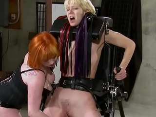 Lesbian newborn likes BDSM, spanking together with pain from mistress