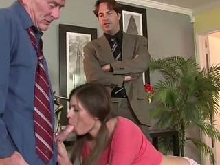 Teen Show Nipper Victoria Lawson Threesome With Show Abb' Increased by His Join up After Getting Caught