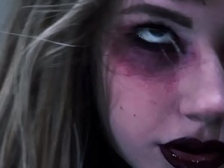 Hell yeah! Goth legal age teenager nympho Ivy Wolfe goes CRAZY!