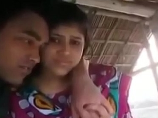 Two couples romantic in shack