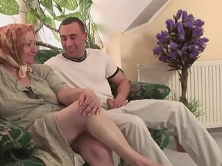 Ancient muted granny is beyond hope a young cock