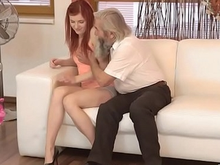 DADDY4K. Submissive redhead enjoys pussy ID card for bearded daddy