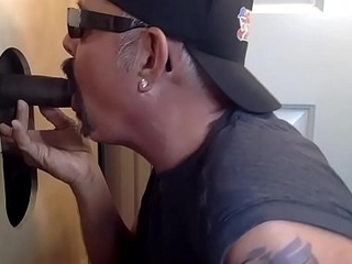 Young Black Top dog At The Gloryhole