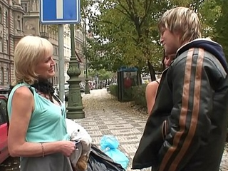 Young guy picks up 70 period old prostitute