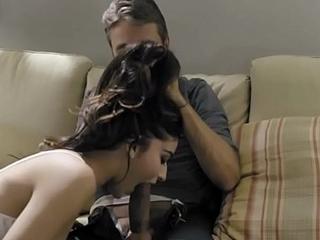 Pervert step-dad disciplines his bratty stepdaughter