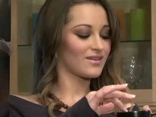 (Dani Daniels) Relaxes in all directions a cup of coffee and a vibrator - Twistys