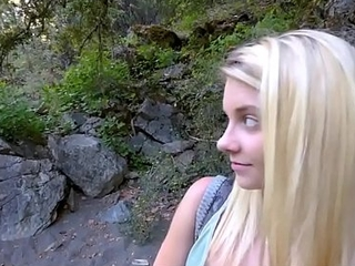 Hawt Blonde Shy Tiny Legal age teenager Hoax Daughter Riley Star Acquires Hoax Daddy Big Cock While On Camping Trip POV