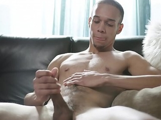 Young Amateur Black Dude Jerking Concluded Cock &amp_ Ass Plays