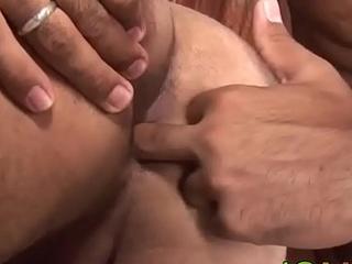 Latino chunk receives facial cumshot after raw shagging beau butthole