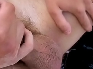 Urbane jock cums hard exposed to the lakeshore after pissing solo