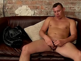 Juvenile blissful hunk JP Clio solo masturbating for be passed on folks