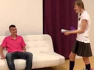 Threesome casting for our 18yo schoolgirl Ainara!!!