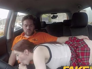 Pretence Driving School USA babe Anna De Ville gets UK ace fuck