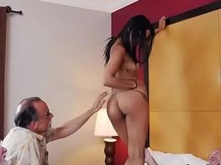 Naked Teen Nikki Kay Gets Fondled By Old Men